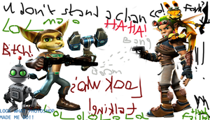 Ratchet + Clank vs Jak + Daxter BANGBOOM by Ichnieveris