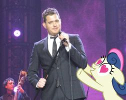 bon bon loves michael buble X3 by MetaDragonArt