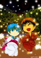 My first new year with Kuroko by hawa777