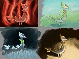 Thing A Day: More Pokemon Color Studies by porkchopsammie