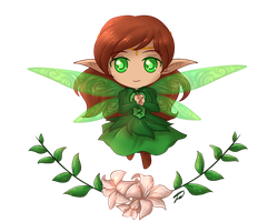 .:Legends of Youtuberia: The Forest Fairy Chibi:. by AquaGD