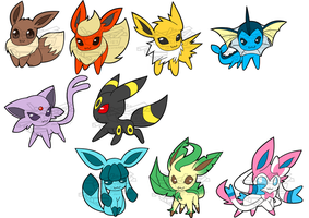 Toycon - Eeveelutions by Friiies