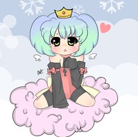 Sitting on a cloud by creampuffchan