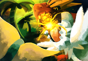 Prehistoric Battle Tyrantrum vs Aurorus