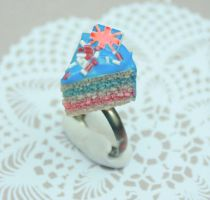 'Jubilee' cake slice ring by citruscouture