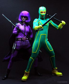 Kick Ass And Hitgirl  by NL07
