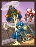 Blue Bomber Chopper Chase by scoundreldaze