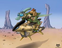 H'hnaki Jetbike Scout by Artraccoon