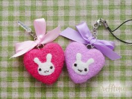 Kawaii Bunny Phone Accessories by li-sa