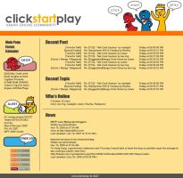 clickstartplay website design by rob-jr