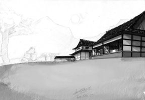 Yasunaga house hold WIP by faustsketcher
