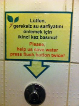 flush twice to save water by hellokirti