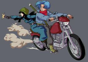 Trunks and Mai by bloodsplach