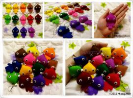 Rainbow Kisses Keychain.. by SongAhIn