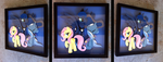 Commission:  Luna Trixie Fluttershy Shadowbox by The-Paper-Pony