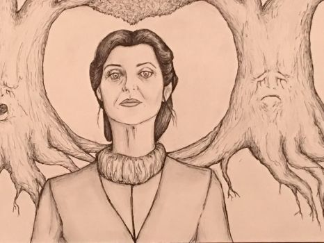 Catelyn Stark  Weirwood Trees Game of Thrones by conwaysuccess