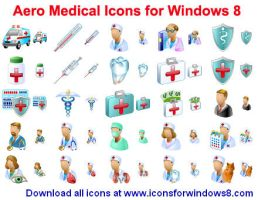 Aero Medical Icons for Win... by Ikonod