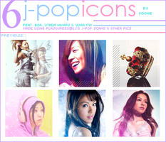 Jpop icon set - 6 icons by Mooniii