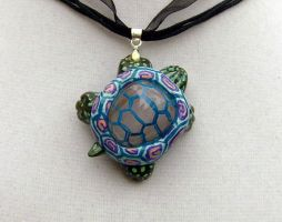 Turtle Necklace_ Summer by pyro-helfier