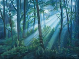 Forest Light by Emily-Luella