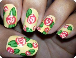 Floral Nails by fractionVerse
