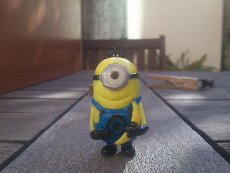 Happy minion made out of clay (fimo). by JuliaJulsH
