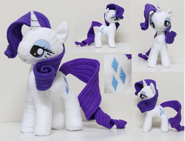 Rarity Plushie 2 by nekokevin