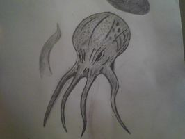 Cthulhu head doodle by ChapeltheVicious