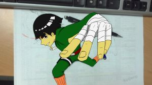 ROCK LEE COMIN AT CHA' by Dessan-san