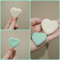 Needle Felted Hearts by amzee21200