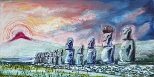 Easter Island by LauraHolArt