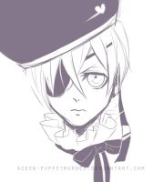 Ciel Phantomhive + Video how i draw him by DeerAzeen