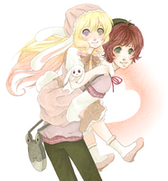Art Collab:AoH: Piggyback Ride by Pasuteru-Usagi