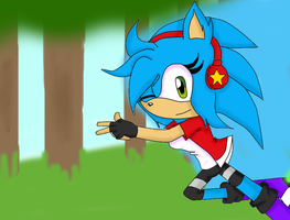 .:.Abby Running Through A Forest.:. by xGalaxyDairex
