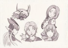 Anime Marker Sketches by Shiryu37