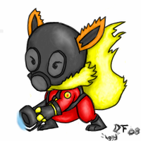 TF2 Spray-Flareon in Pyro Suit by DigitalFlareon