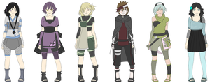 Naruto Adops Batch  1 left- 80 points by zombie-adoptables