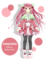 Adoptable - Cherry Sakura Girl [REOPEN] by ChasersFlyersRunners