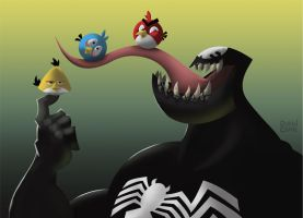 Venom_AngryBirds by ChenUp