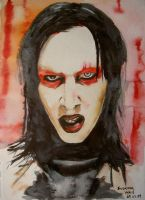 Marilyn Manson. Red, 2009 by susannavaris