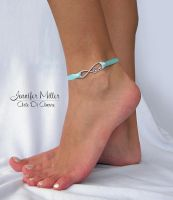Something Blue Infinite Love Ribbon Anklet by ArteDiAmore