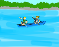 Two blondes in a boat by Uskall