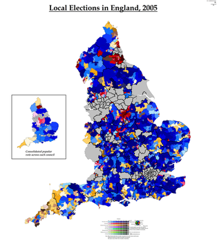 Local Elections in England, 2005 by AJRElectionMaps