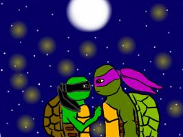 Aura and Donatello by Allison1y