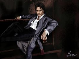 Damon Salvatore by SPRSPRsDigitalArt