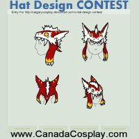 Hat design contest - Fluffy the sergal hat by lorduria