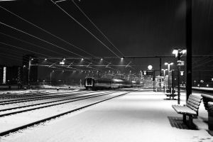 first snow 2012 by JonathanMH
