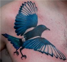 Magpie by Remistattoo