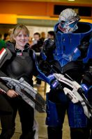 FemShepard and Garrus by Samurai-Indy