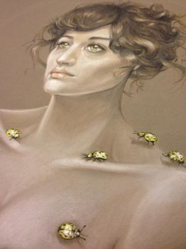 Lady and Bug detail by christiana
